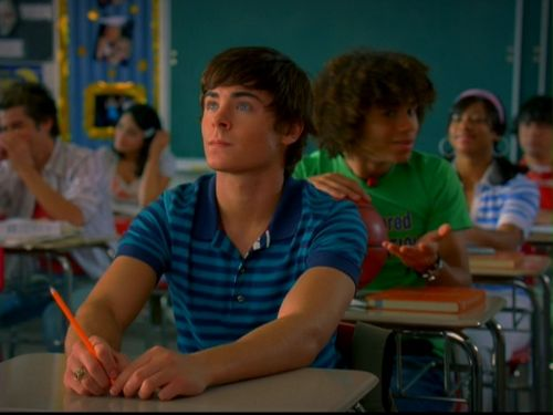 Zac Efron wallpaper probably containing a brasserie, a cena table, and a restaurant titled High School Musical 2