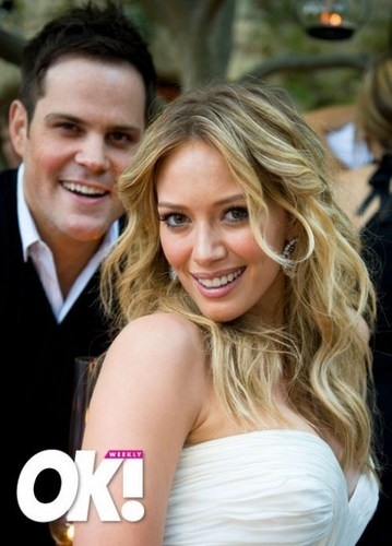Hilary Duff & Mike Comrie wallpaper possibly with a portrait called Hilary Duff & Mike Comrie Wedding
