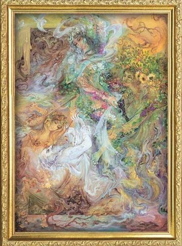 Fine Art wallpaper probably with anime entitled Indian painter M. F. Hussain
