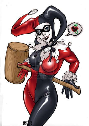Harley Quinn wallpaper possibly containing Anime called J ♥
