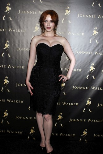 Christina Hendricks wallpaper containing a cocktail dress titled Johnie Walker Father's Day Gifting Event