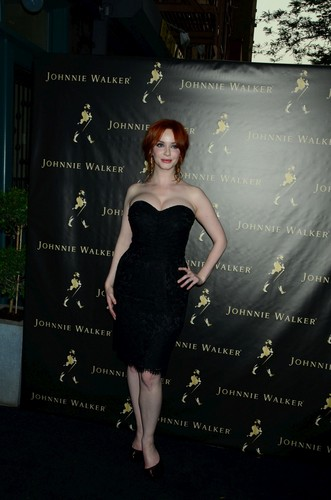 Christina Hendricks wallpaper probably with a sign called Johnie Walker Father's Day Gifting Event