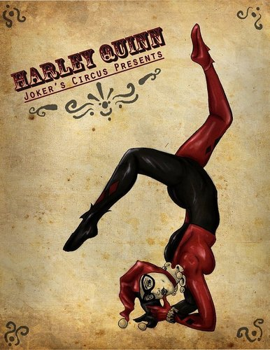 Harley Quinn wallpaper with Anime called Joker's Circus presents...