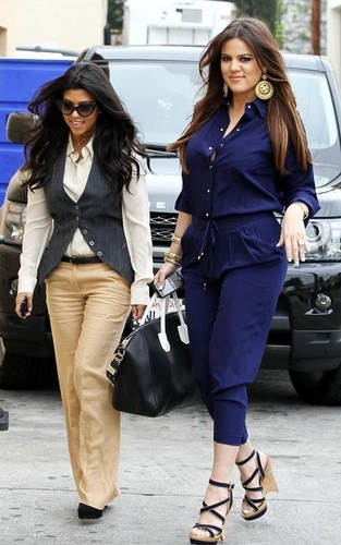 Kardashian family at the Carousel restaurant in Burbank.