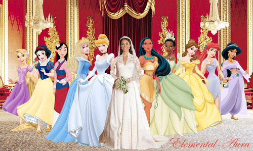 Disney Princess karatasi la kupamba ukuta titled Kate Middleton the Real Life Disney Princess
