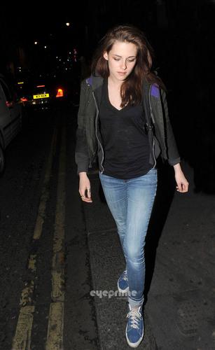 Kristen Stewart seen leaving the Groucho Club in London, June 8