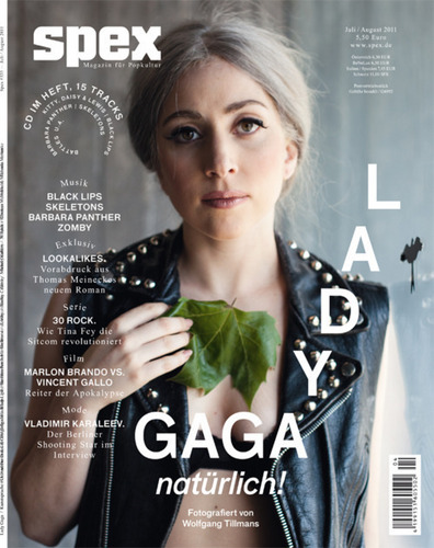 Lady Gaga wallpaper probably containing a portrait entitled Lady Gaga covers Spex Magazine July - August 2011 issue