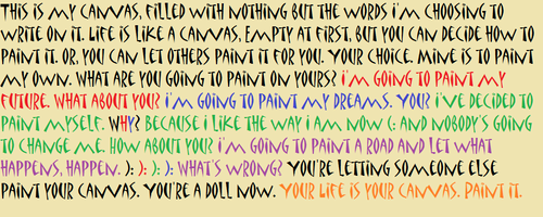 Advice wallpaper entitled Life Canvas