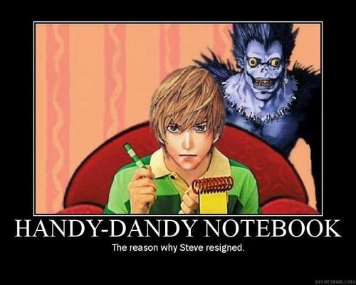 Light's handy dandy notebook