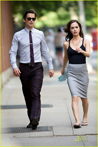 Matt Bomer: 'White Collar' Filming with Eluza Dushku! (June 7)