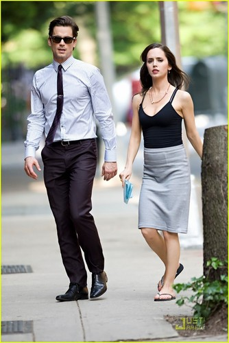 Matt Bomer: 'White Collar' Filming with Eluza Dushku!