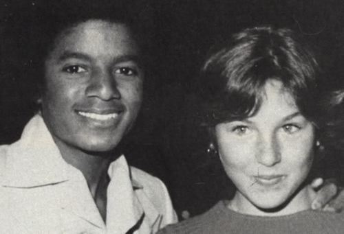 Michael Jackson With Tatum O' Neal [=