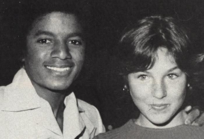Michael Jackson With Tatum O' Neal [=