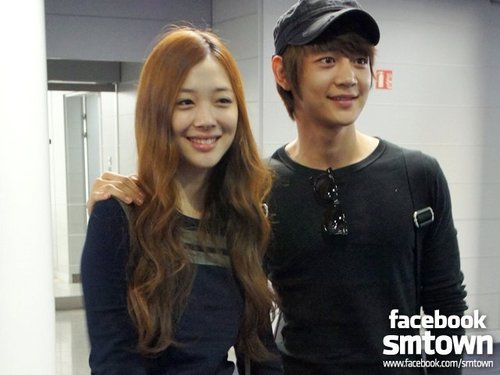 The group SHInee images Minho & F(x) Sulli wallpaper and ...