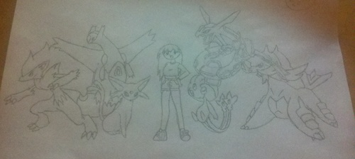My character and team of awesome pokemon!