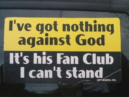 Nothing against God, really......
