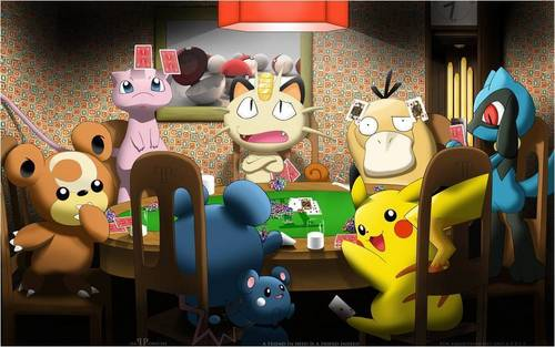 Pokemon Playing Poker