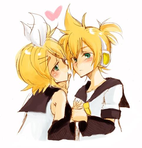 Rin X Len-Give me a kiss