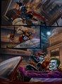 Robbing Gotham Bank!