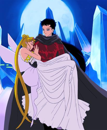 Seiya and Neo क्वीन Serenity