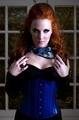 Simone Simons Blue Corset