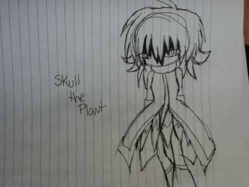 Skull the plant