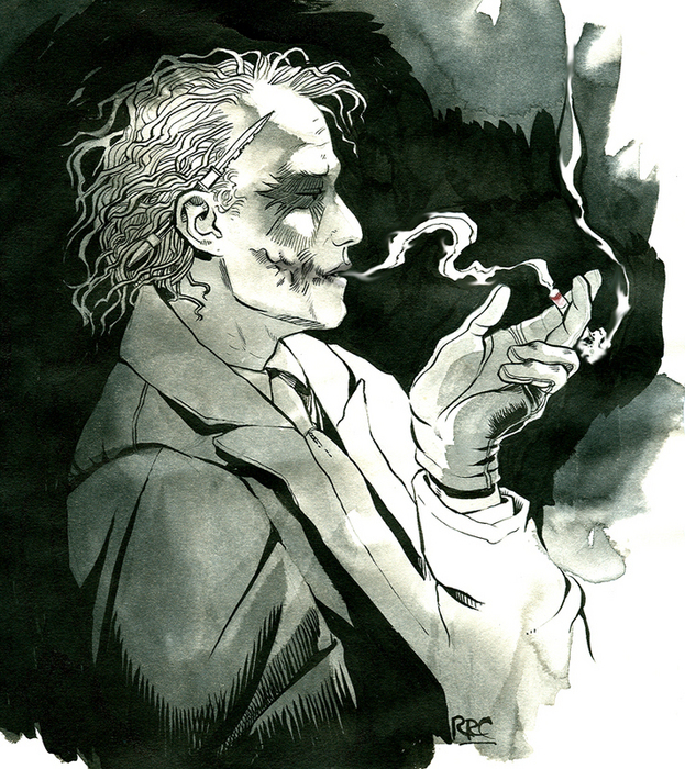 Smoking Joke R The Joker Fan Art 22732491 Fanpop