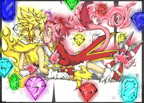 Super Sonic and Burning Blaze