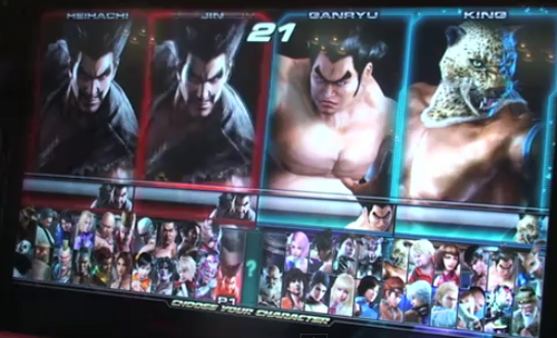 টেকেন TAG 2 CHARACTER SELECT SCREEN