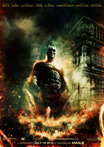 The Dark Knight Rises wallpaper with anime called The Dark knight Rises Fan Poster