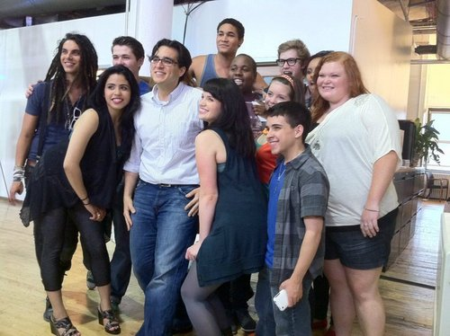 The Glee Project Contenders Visit the Oxygen Office!
