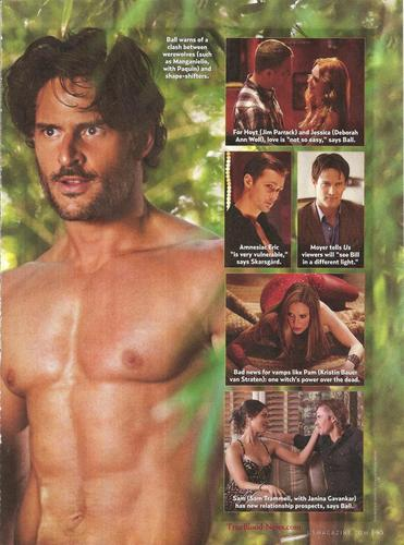 Sookie and Alcide wolpeyper containing a six pack titled US Weekly artikulo