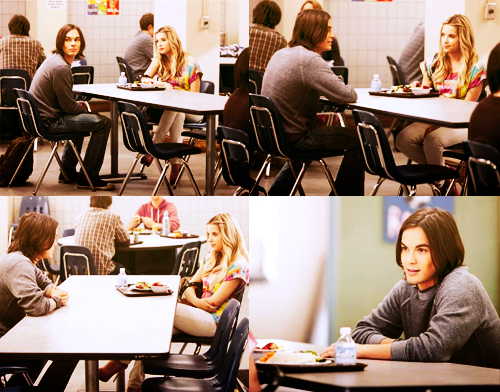 Hanna & Caleb wallpaper with a jantar table, a restaurant, and a brasserie called hanna and caleb - 2x04 blind encontro, data
