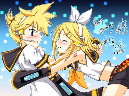happy birthday rin and len