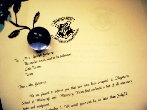 harry potter wallpaper titled hogwarts acceptance letter
