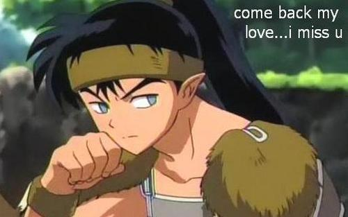 kagome's on his mind