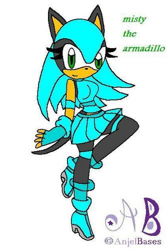 misty the armadillo`s new style