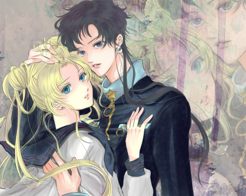 Sailor Moon Sailor Stars দেওয়ালপত্র entitled seiya and usagi