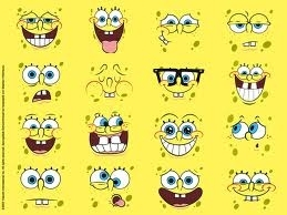 the faces of spongebob