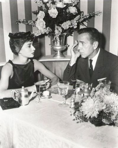 Humphrey Bogart with Audrey Hepburn, Sabrina 1954