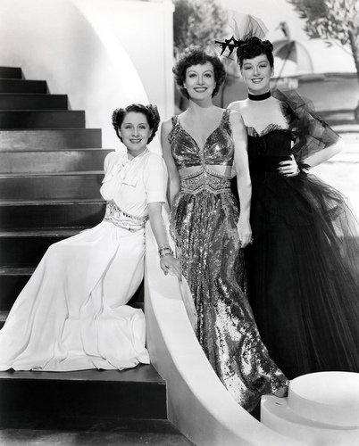 (L to R) Norma Shearer,Joan Crawford, Rosalind Russell in movie 'the women'