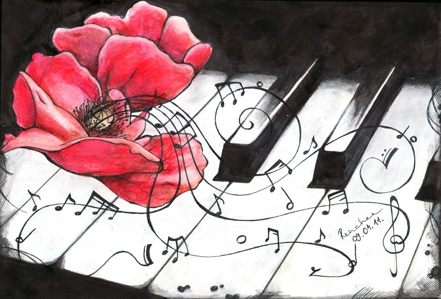 Картинки я рисую музыку любви