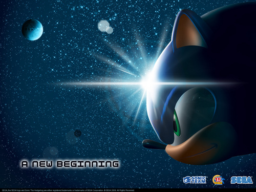 Sonic's World wolpeyper called A New Beginning