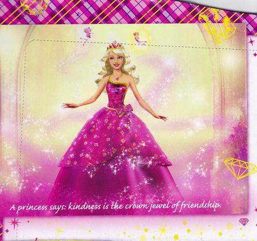 A higher quality image of the picture on the back of the Blair doll's box.