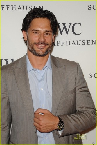 "Joe Manganiello 壁紙 containing a business suit, a suit, and a three piece suit called April 28: IWC Schaffhausen Presents ""Peter Lindbergh's Portofino"""