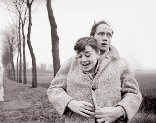 Audrey Hepburn with her husband Mel Ferrer. - audrey-hepburn Photo
