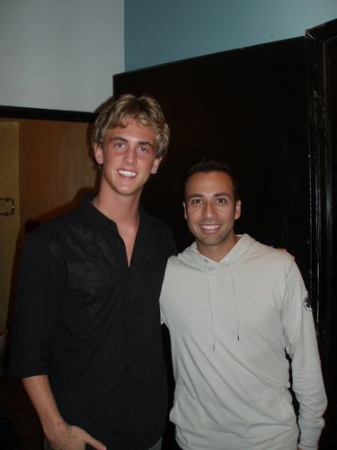 Austin Powell with Howie D.