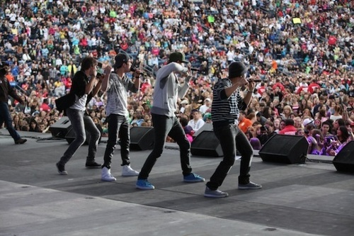 Big Time Rush performs at B96 Summer Bash in Chicago