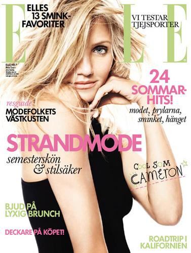 Cameron Diaz for Elle Sweden July 2011