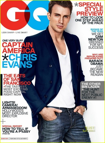 Chris Evans Covers 'GQ' July 2011